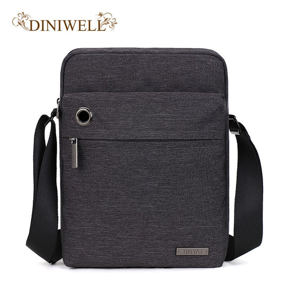 DINIWELL2020 Men's Shoulder Bag with Headphone Buckle High Quality Messenger Bag Business Casual Fashion Summer Men's Travel Bag