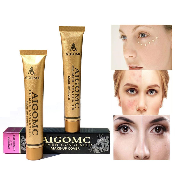 AIGOMC New Hot Sale Makeup 14color Base foundation cover Concealer cream of of the skin blemish face eye concealer
