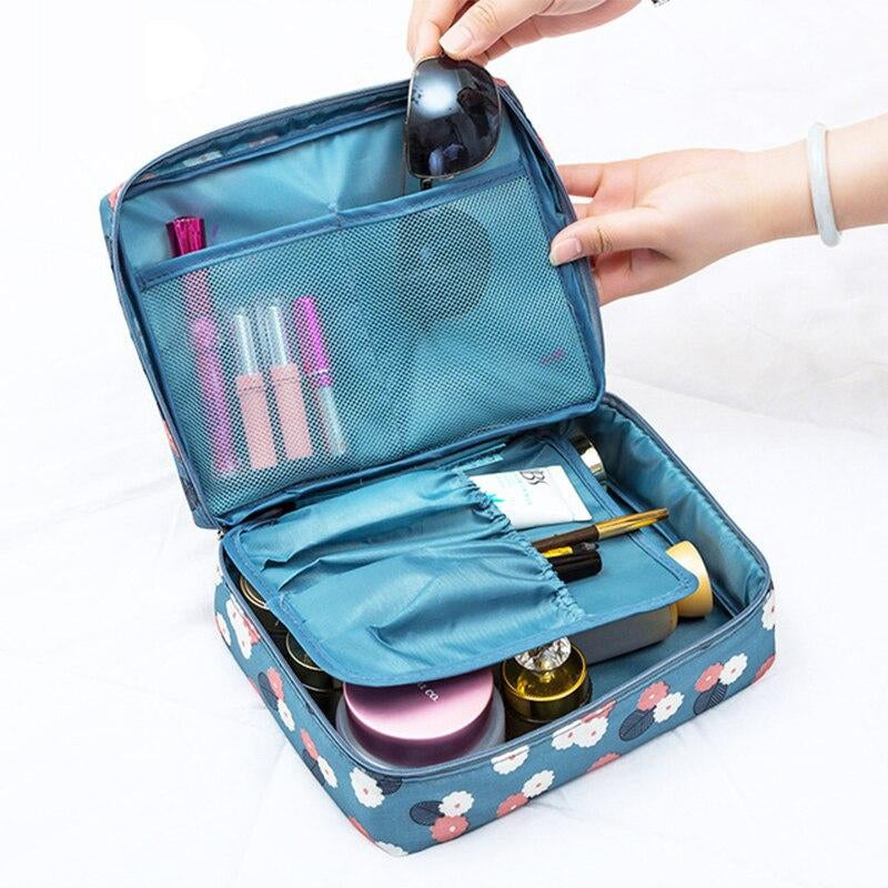 Men's Portable Multifunction Storage Bag Waterproof Nylon Cosmetic Bag Travel Essential Makeup Bag Beauty Bag For Women