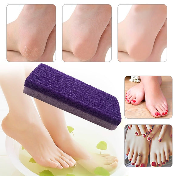 Foot Care Exfoliator Pedicure Tool Pumice Stone Foot Care Scrub Dead Hard Skin Remover Cleaner Purple Color