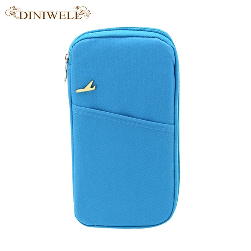 DINIWELL Brand  Women Travel Passport Set Wallet Multifunction Credit Card Set ID Holder Storage Organizer Clutch Money Bag