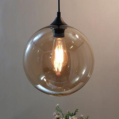 Modern Simple Glass Hanging Light Fixture Nordic Creative 25cm