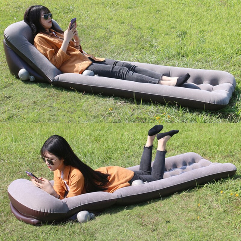 Camping Car Bed 132*60CM Inflatable Cushion Mattress Inflatable Car Mattress Sleepping Pad Car Travel Bed