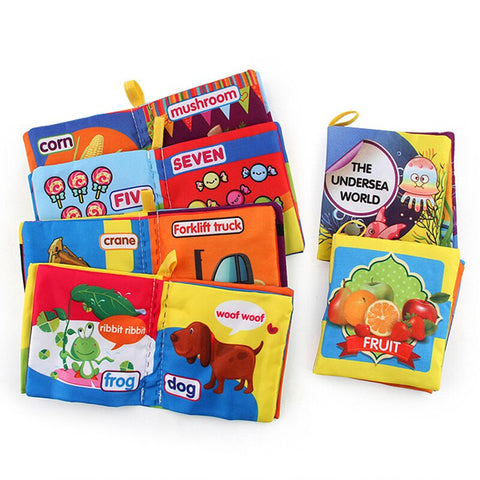 1PC Intelligence development Cloth Bed Cognize Book Educational Toy for Baby