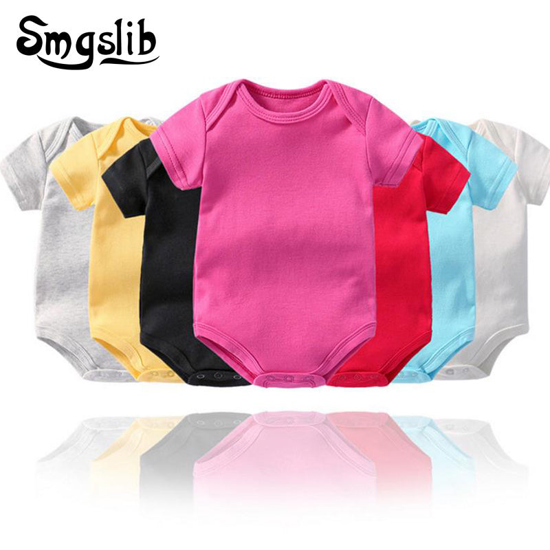 Cute Lithuania Dog Paw Playsuit Short Sleeve Cotton Bodysuit for Unisex Baby