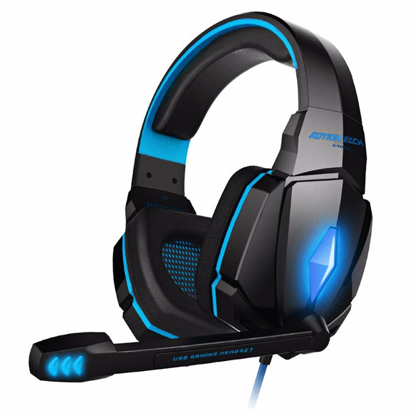 KOTION EACH Original Gaming Headset Deep Bass Stereo Game Headphone Noise Cancelling Earphone with microphone led light for pc