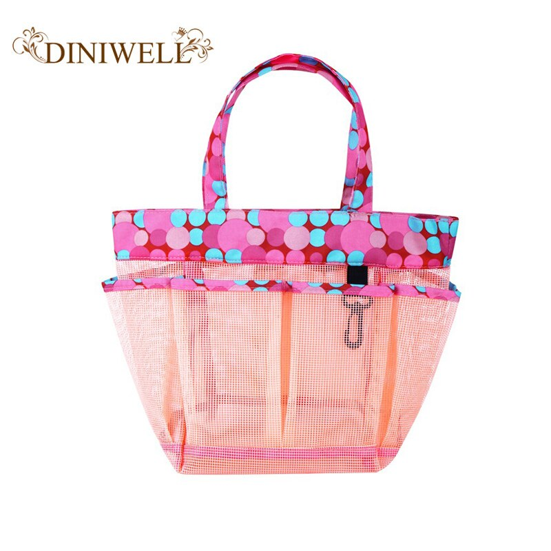 DINIWELL beach bags women Portable beach bag PVC mesh storage basket large capacity shower basket shower bag bathroom tote bag