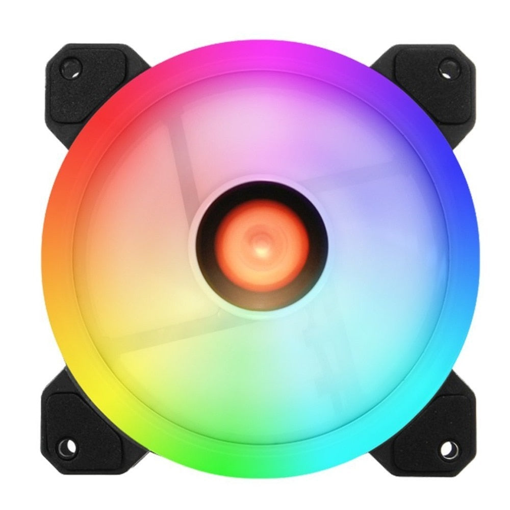 LESHP Computer PC Cooler Cooling Fan Double Ring 366 Modes RGB LED 120mm Cooling Fan For CPU High-airflow