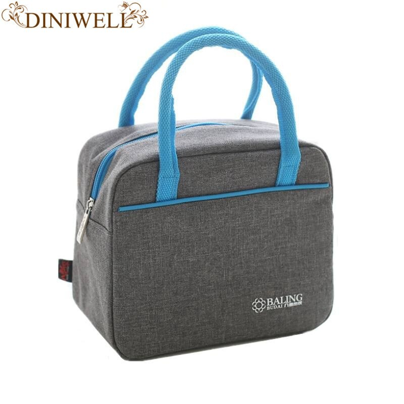 1 set of fresh green 900D Oxford cloth fresh women insulated lunch box lunch bag hand add thick tin foil insulated cooling bag