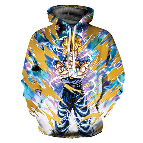 3D Hoodie Dragon Ball Z Hooded DBZ Jacket Cartoon Sweatshirt Anime Japanese 2019