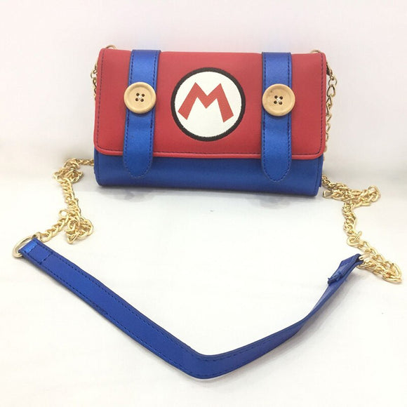 Cute Cartoon Mario Bros Messenger Bags Anime Game Super Mary Day Clutch Leather Purse Fashion Mini Bags Girl Lady Crossbody Bag
