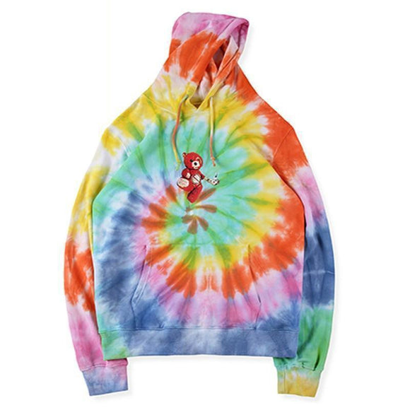 19SS Autumn New Travis Scott ASTROWORLD World Hoodies Harajuku Rainbow Sweatshirts Tie Dye Men and Women Hoodie Travis ASTROWORL