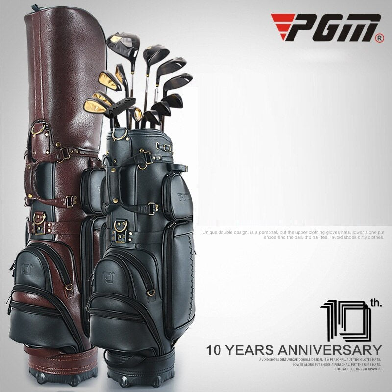 PGM Professional Golf Telescopic Standard Bag Durable Hard Shell Multifunctional Ball Pack Genuine Leather D0740