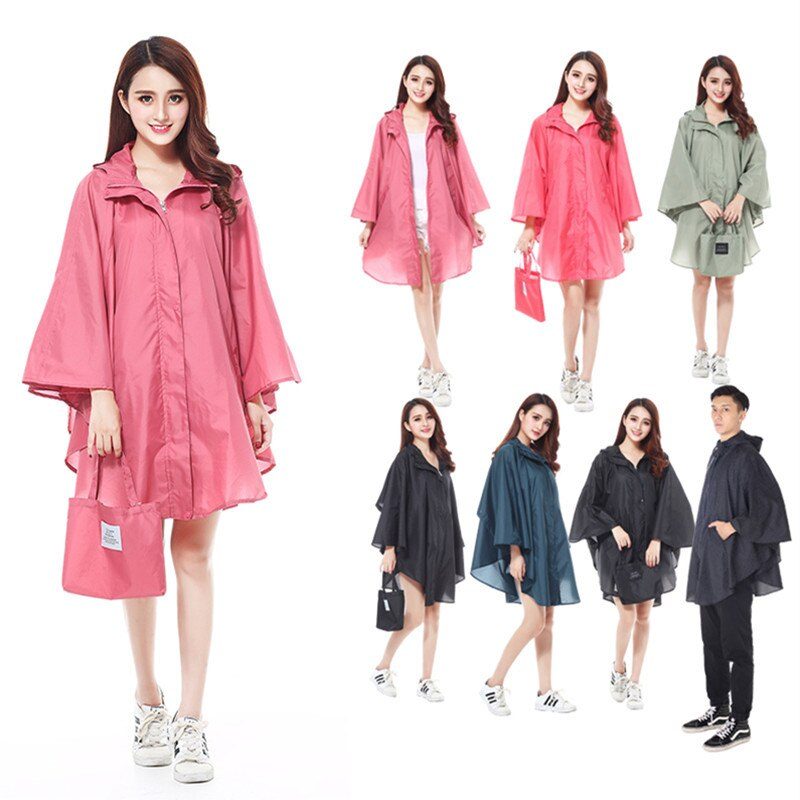 Women Raincoat and Waterproof Hooded PTFE Rain Jacket Poncho Outside Ultra-thin Cycling and hiking Rainwear and Women rain coat