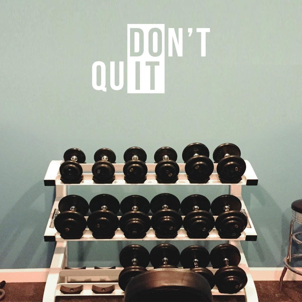 Vinyl Wall Art Decal Don't Quit Gym Fitness Home Bedroom Decor Motivational Work Out Living Room Office Workplace Decals Sticker