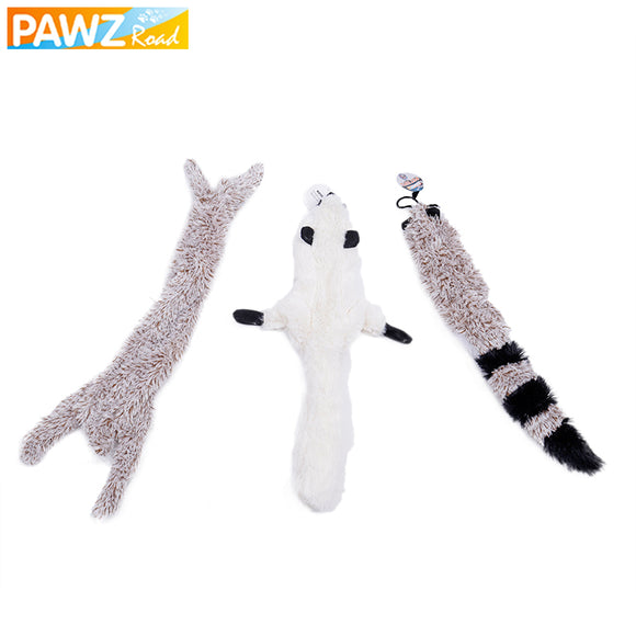 3 Pcs/lot Pet Toys For Dog Cat Cute Animal Pattern Bite Resistant Dog Puppy Cat Toys Plush With Sound Squeaker Pet Chew BiteToy
