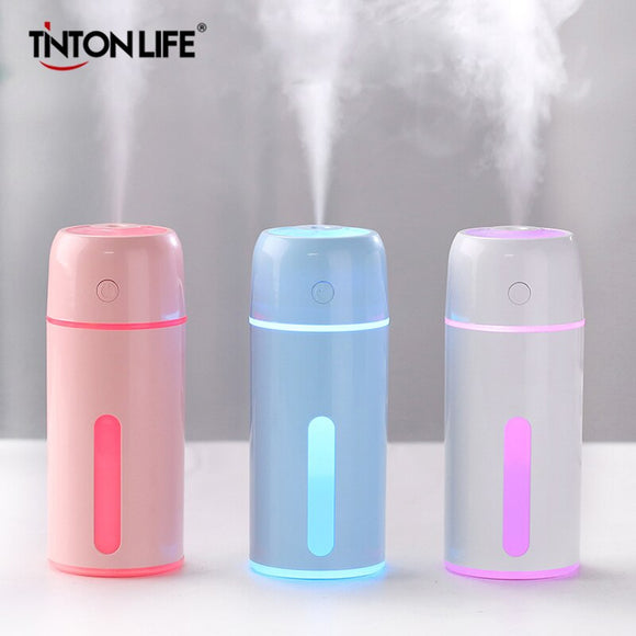 TintonLife Air Humidifier Car humidifier Mist Maker Aroma Fogger Diffuser Mist Maker Essential Oil Led Light For Office Home Car