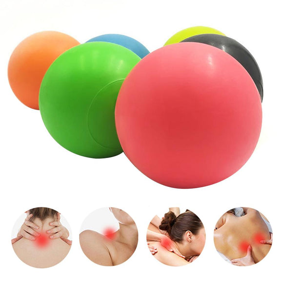 Orange Physiotherapy Massage Natural Rubber Fascia Muscle Relaxation Acupressure Ball