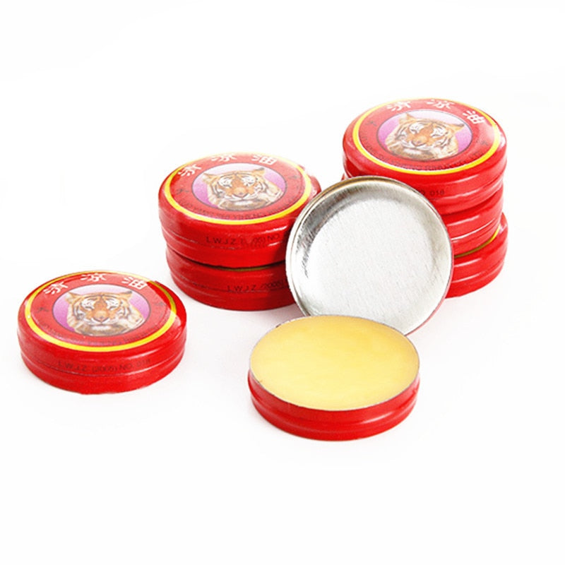 Chinese Red Tiger Balm Oneself Treatment Of Influenza Cold Headache Essential Oil Massage to Relieve Headaches Menthol Balm Oil