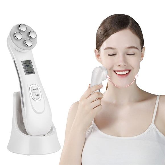 Face Skin EMS Mesotherapy Electroporation RF Radio Frequency Facial LED Photon Skin Care Device Face Lifting Tighten Beauty Tool