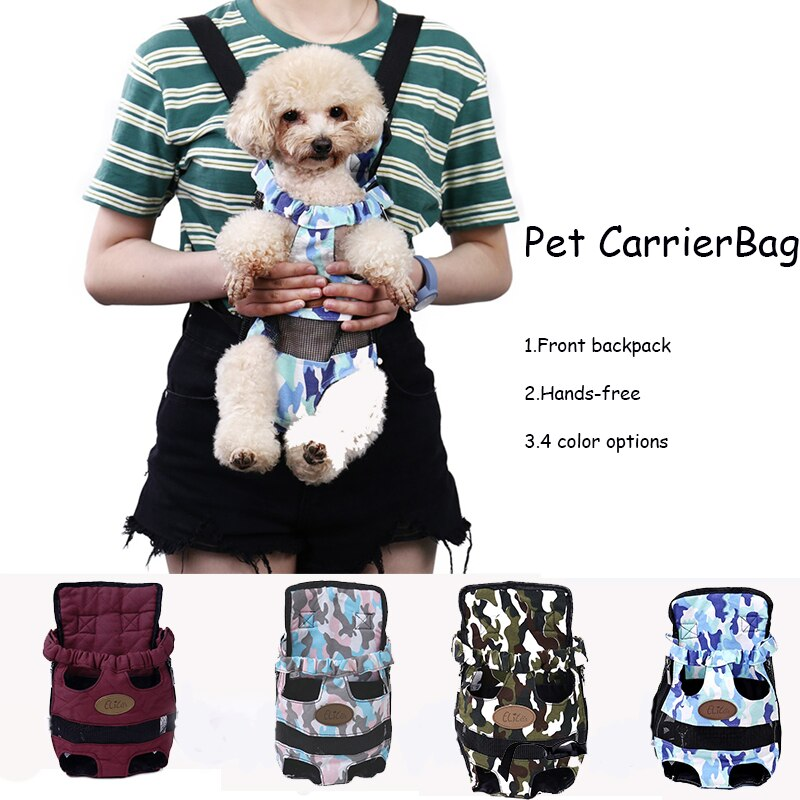 Pet Carrier Hands-free Outdoors Travel Breathable Chest Backpack Dog Bag For Small Dog Fashion Pet Bag Shoulder Puppy Carrier