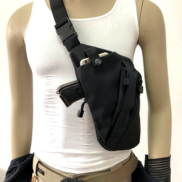 Tactical Left / Right Shoulder Bag Anti-theft Chest Bag Hunting Airsoft Tactical Storage Gun Pouch Slung Sports Pocket