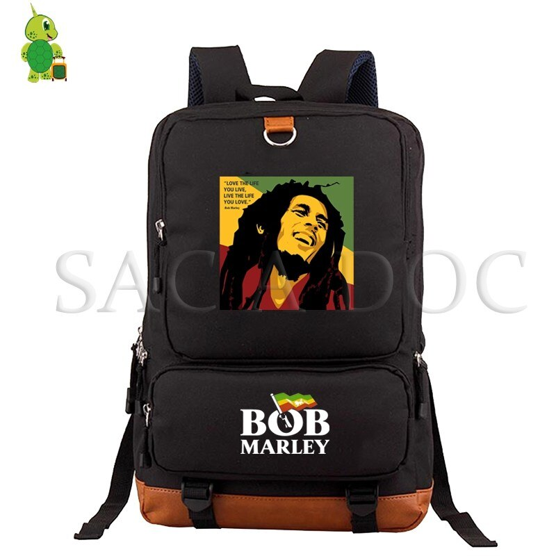 Bob Marley Legend Daily Backpacks School Bag for Teenagers Students Large Capacity Laptop Backpack Women Men Casual Travel Bags