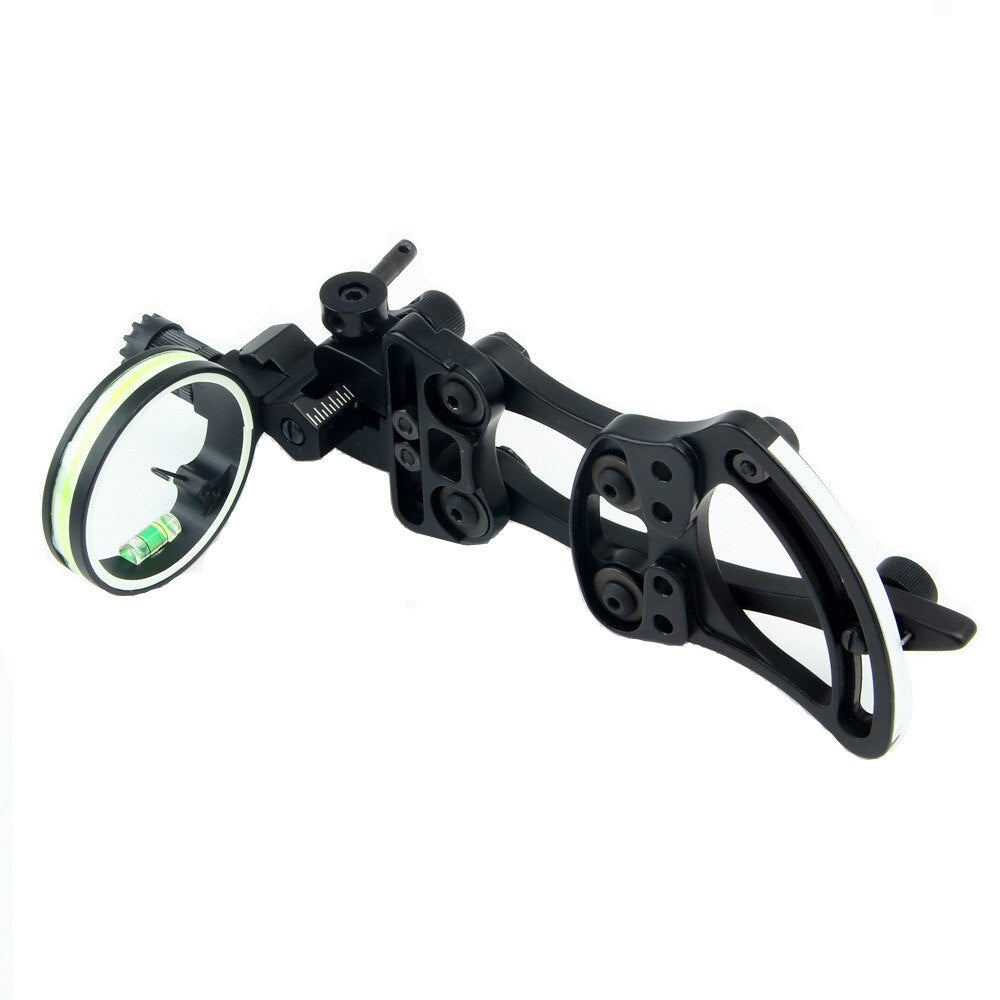 Professional Archery 1 Pin Bow Sight with 0.019'' Fiber Light for Compound Bow Hunting Shooting G96
