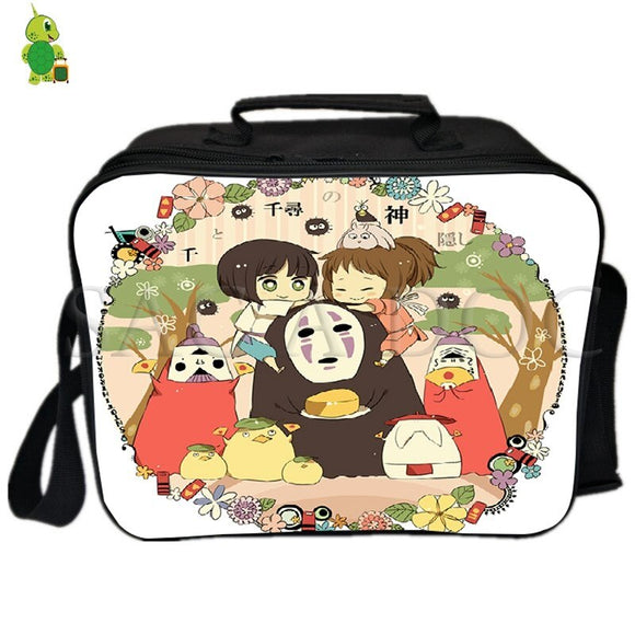 Ghibli My Neighbor Totoro Catbus Lunch Bag Thermal Insulation bag Ice Pack Women Men  Picnic Camping Shoulder Bag