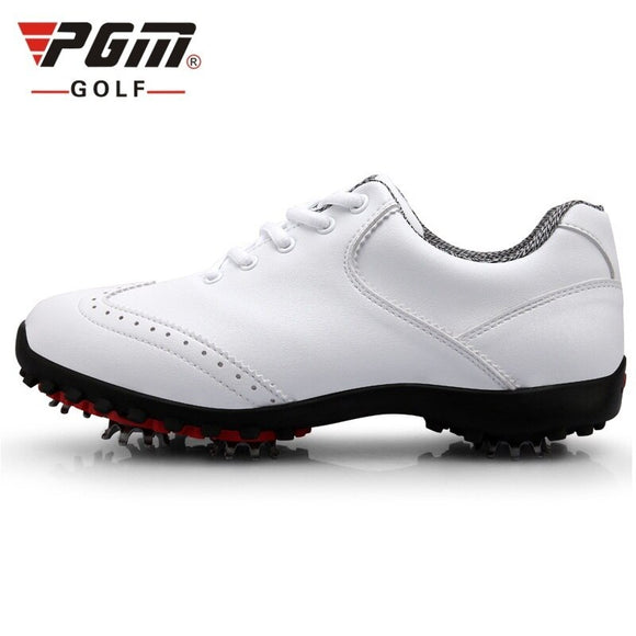 New 2020! Pgm Golf Shoes Women Sneakers Waterproof Golf Sports Activities Shoes Lace Up Breathable Professional Trainers AA51023