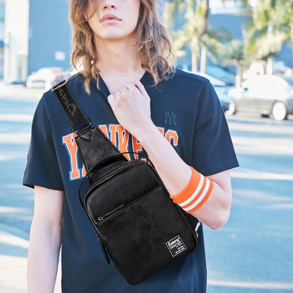LIELANG Chest bag men casual multi-function 2019 brand bag new fashion bag shoulder messenger men chest bag leather
