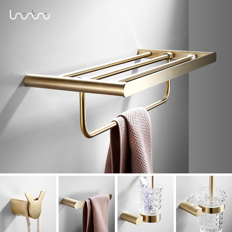 Cup Holder Toothpaste Holder BESy Adhesive Multifunction Toothbrush Holder Kit SUS 304 Stainless Steel Bathroom Hardware Accessory Organizer Drill Free Wall Mount with Glue Brushed Nickel