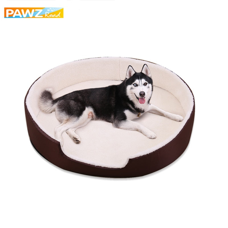 Warm Plush Dog Bed 4 Sizes Round Pet Cushion For Small Medium Large Dogs Removable Winter Cat Dog Kennel Puppy Mat Pet Bed