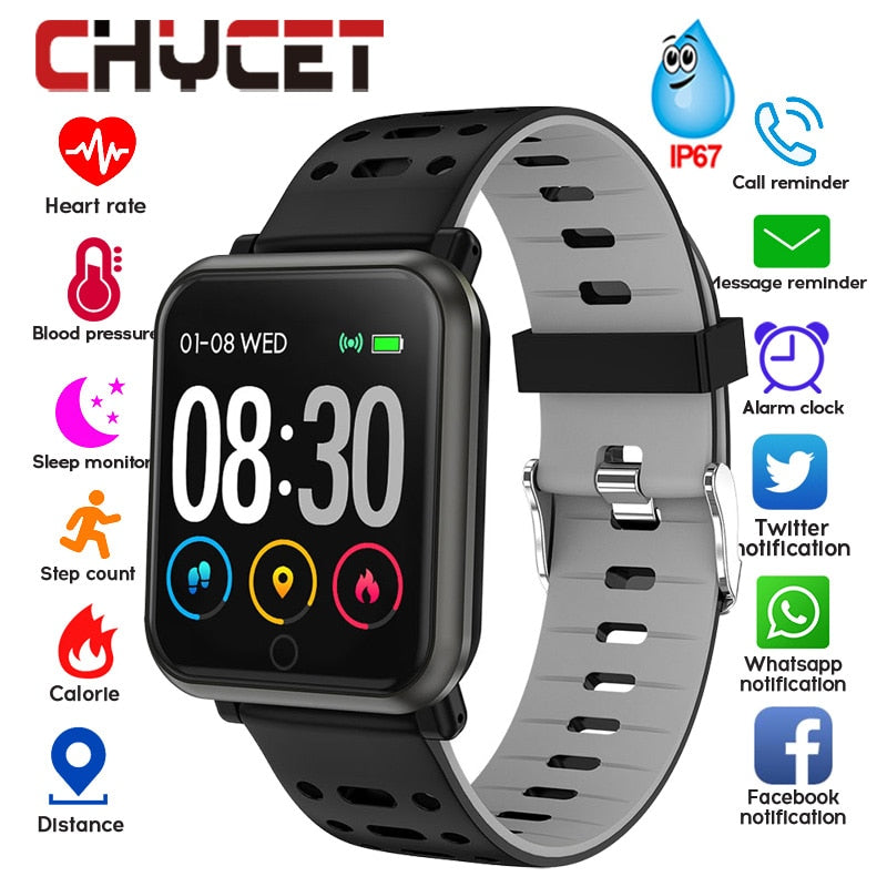 Smart Watch Men Women Blood Pressure Waterproof Music Control Smartwatch Fitness Tracker Watches Wearable Device For Android IOS