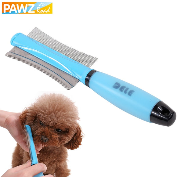 Pet Hair Comb For Dog Cat Hair Remover Double-sided Easy To Operate Fur Trimmer Deshedding Brush Grooming Tool For Long Hair Pet