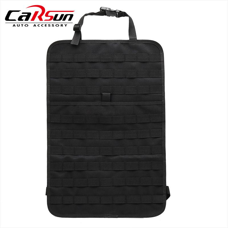 1Pc Tactical Molle Car Seat Back Organizer Storage Bag Outdoor Camping Travel Seat Cover Protector Universal for All Cars
