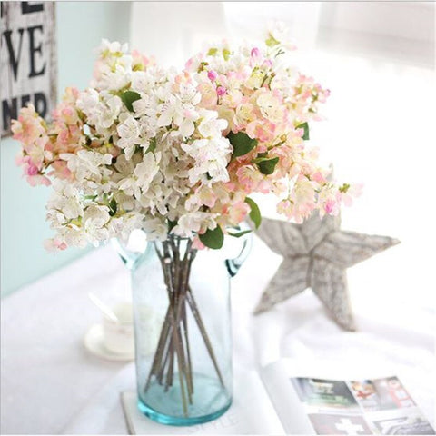 1PC  Artificial Cherry Blossom Silk Flower for Party Wedding Home Decoration