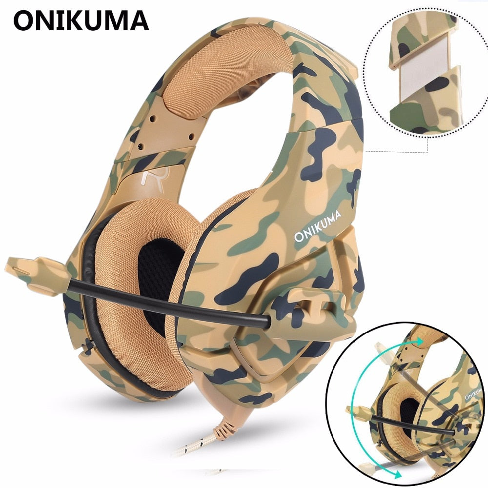 ONIKUMA Gaming Headset Gaming headphone Wired Earphone Casque Gamer Stereo Bass with Microphone Headphones For PS4 Laptop PC