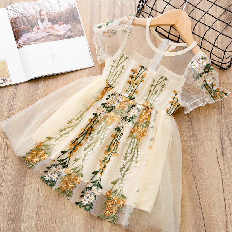 Pudcoco Toddler Baby Girls 3//4 Flare Sleeve Floral Irregular Hi-Low Swing Pleated Dress
