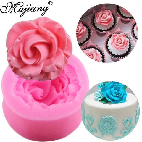 3D Peony Shape Silicone Fondant Molds Flowers Handmade Soap Candle Clay Mold Cake Baking Wedding Decorating Tools by Vuantu