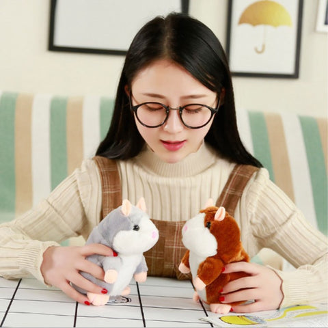 Talking Hamster Plush Toy Lovely Speaking Sound Record Repeat Kids Toy Gift