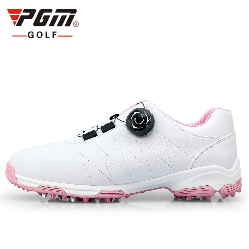 Women Pgm Golf Shoes Waterproof Golf Sneakers For Ladies Knobs Buckle Sports  Breathable Skidproof Training Shoes AA51026
