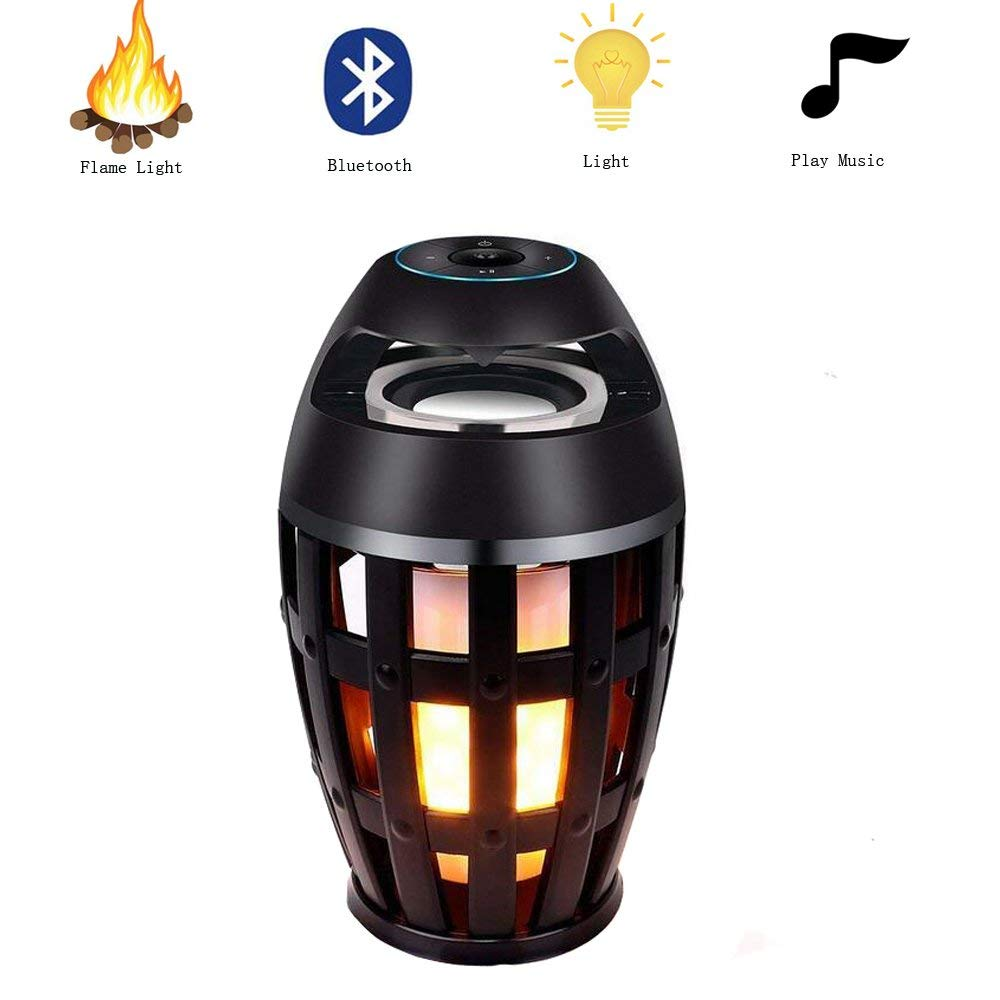 BINFUL Wireless Bluetooth Speaker with Light Portable Stereo Bass Speaker Night Light Camping Atmosphere  free shipping