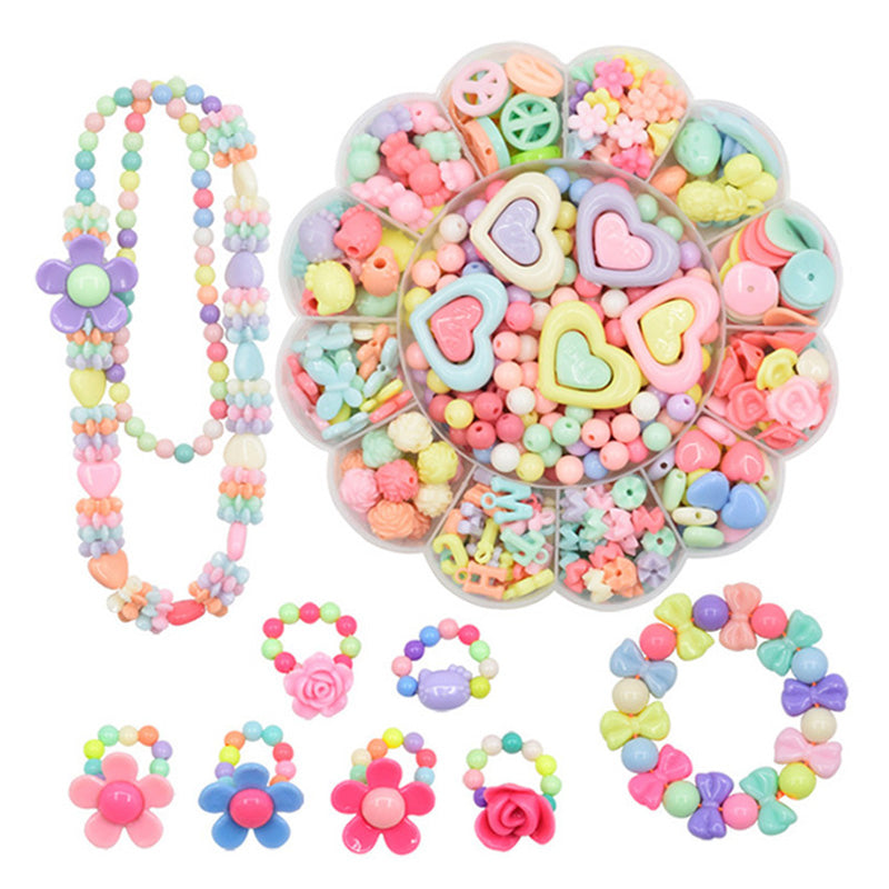 Children Fashion Beads Toy Diy Handmade Wear Necklaces Bracelets Beaded Educational 3D Puzzle Perler Beads Toys