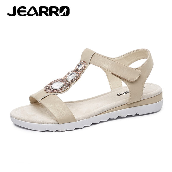 JEARRO Brand Shoes Women Sandals Gladiator Summer Flat Sandals Woman Dress Sandals 2019 New Sandalias de mujer Size 37-41