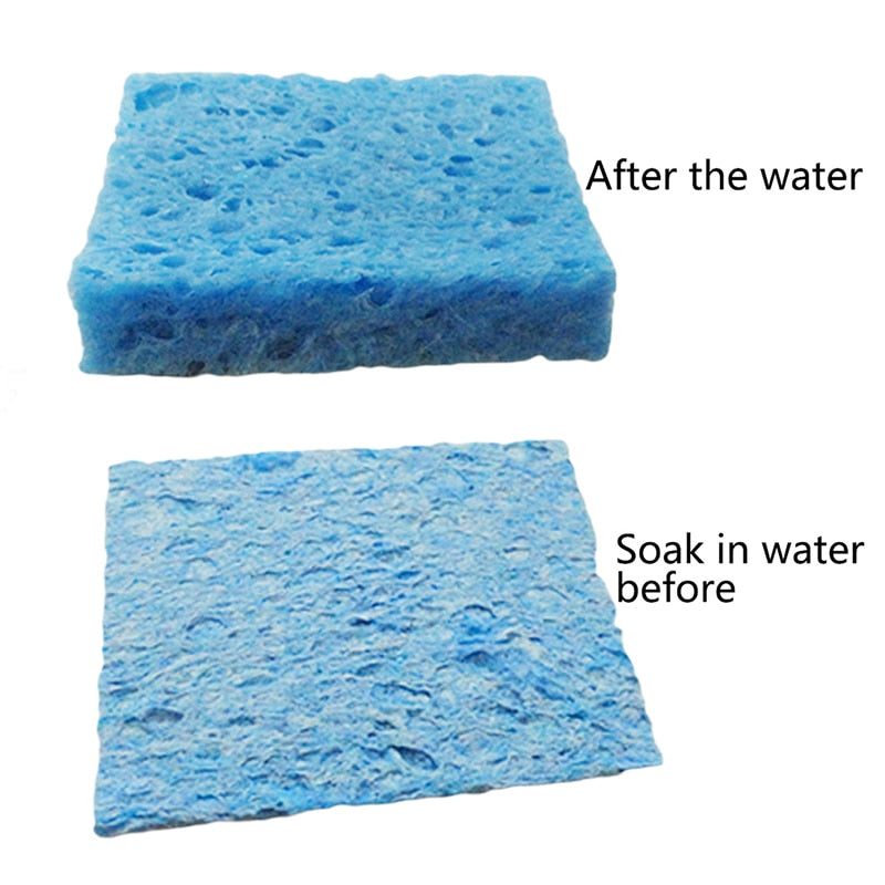 2 pcs sponge blue red decontamination large rectangle car wash cleaning new