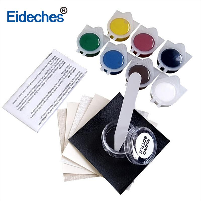 7 Colors Liquid Skin Leather Repair Kit Auto Car Seat Sofa Coats Holes Scratch Cracks Rips Color Refurbishing Restore Cream Tool