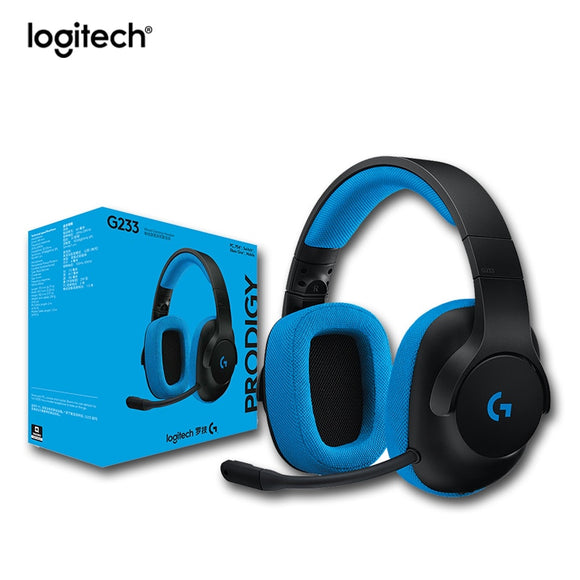 Original Logitech G233 Gaming Headset Wired Control Headphone Work with PC PS4PRO Xbox One Smartphones and Tablets for All Gamer