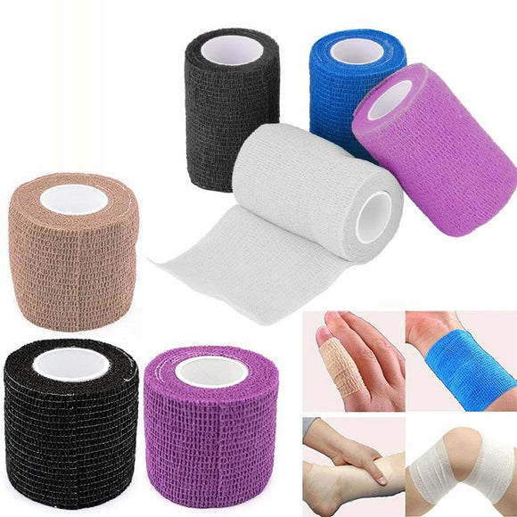 Self Adhesive Wrap Tape Elastic Bandage First Aid Medical Health Care Treatment Gauze Ankle Knee Arthrosis Protector Multi-size