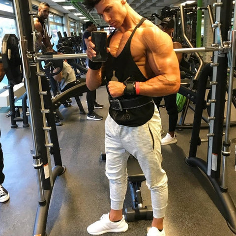 Men GYM Joggers Pants Fitness Bodybuilding Muscle Workout Motorcycle Pants
